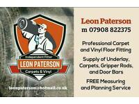 Leon Paterson Independent Carpet Fitter Great rates, friendly, reliable happy to help