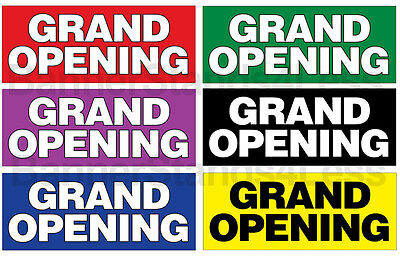 2x5 Ft Vinyl Banner Sign - Grand Opening Various Color Options