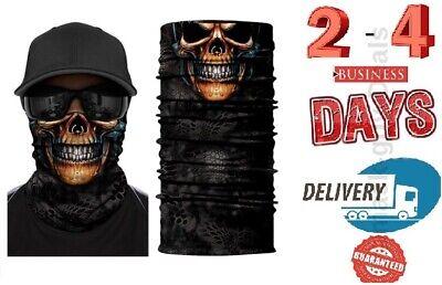 Skull skeleton grim reaper Mask Face Biker  Motorcycle Neck Balaclava Helmet - Grim Reaper Mask