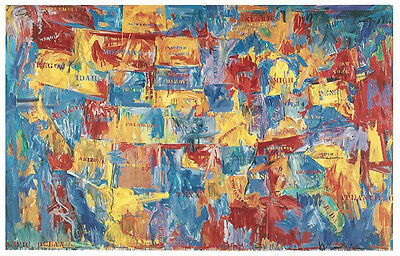 POP ART PRINT - MAP by Jasper Johns - Large 27.5x38 Poster