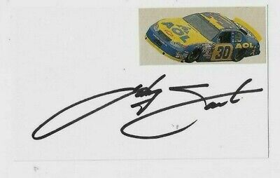 Johnny Sauter Signed 3x5 Index Card NASCAR Racing  Johnny Sauter Racing