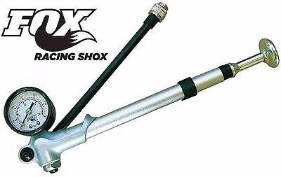 Fox Shock Pump Inflator Fork and Rear Shox 300psi Gauge & Swivel Hose 027-00-006