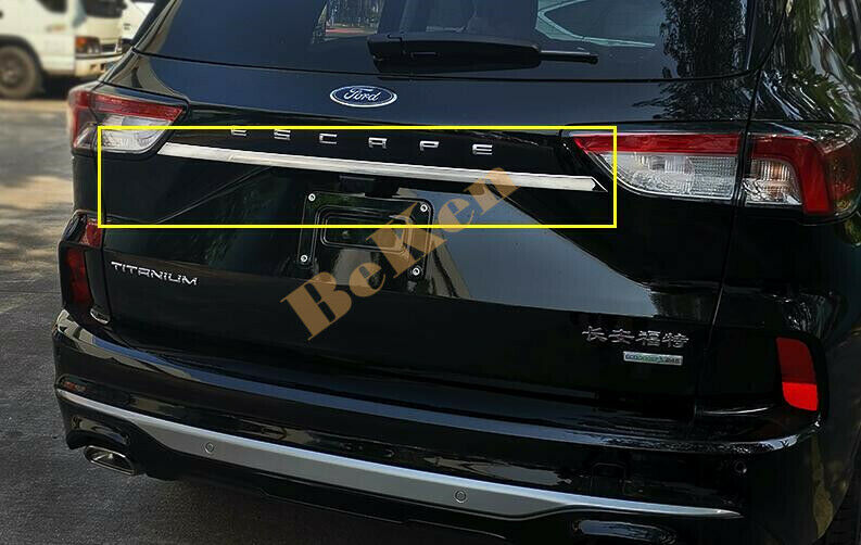 Stainless Rear Central edge Cover Trim 1pcs fits Ford ...