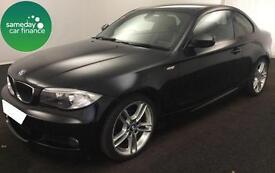 £154.06 PER MONTH BLACK 2011 BMW 118D 2.0 M SPORT COUPE DIESEL MANUAL