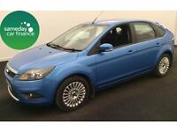 £133.72 PER MONTH BLUE 2010 FORD FOCUS 1.8 TITANIUM PETROL MANUAL