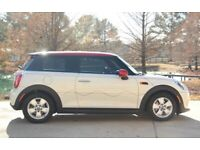 Pepper White with Red Top 2015 Mini Cooper