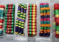 multicolor Wood Bracelets--NEW!!!
