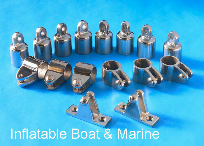 "Bimini Top  Fittings Kit / Set - 4 Bow- 1"" 316 Marine Stainless Steel"