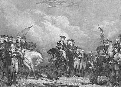 fcd02dd029798 Revolutionary War George Washington BATTLE TRENTON NJ ~ 1870 Art Print  Engraving
