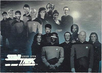 TC Star Trek TNG Season 7 HG13 Crew der USS Enterprise 1701 D