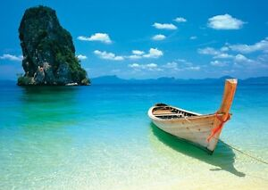 poster g ant phuket tha lande plage paysage marin ebay. Black Bedroom Furniture Sets. Home Design Ideas