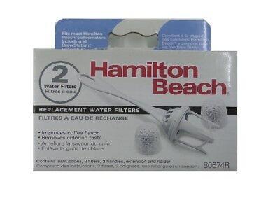 Hamilton Beach Coffeemaker Water Filter 80674 2 FILTERS