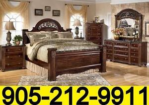 Winter Clearance sale 6pcs Ashley bed sets from $999. Floor models up to 50% off
