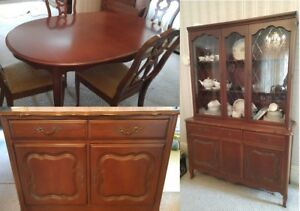 Knechtel Furniture Ltd French Provincial Dining Set