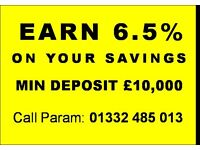 EARN 6.5% INTEREST ON YOUR SAVINGS