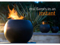 Granite fire bowls for table or patio use