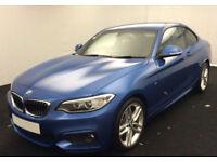 Blue BMW 220 2.0TD 2017 d M Sport FROM £93 PER WEEK!