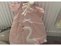 Princess swan sleepbag 0-6 months