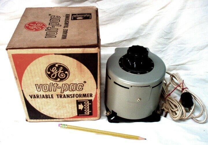 "General Electric ""Volt Pak"", Variable AC Voltage Transformer"