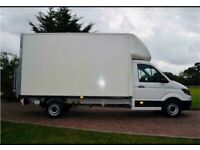 Man with van house removal office commercial moving sofa furniture delivery man and van reliable