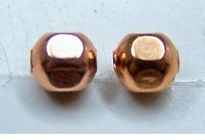 Real Copper Spacer Round Faceted Beads. 3mm. Quantity 100.
