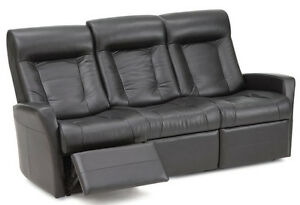 3 Places Cuir/Leather Sofa inclinable/Recliner PALLISER Banf II