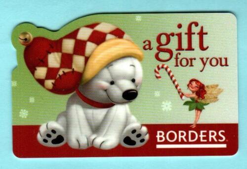 BORDERS Polar Bear and Fairy 2007 Gift Card ( $0 )