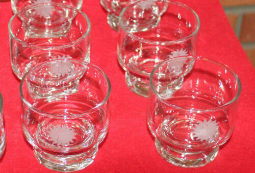 4 Vintage NATIONAL AIRLINES First Class Glasses Set Collectibles 1970