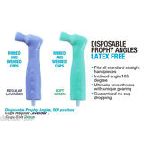 100 pcs Excellent Dental Disposable Prophy Angle.  SOFT GREEN color. Latex FREE