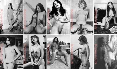 Konvolut 10 Fotos Bilder Model JUNGE FRAU HAIRY 01 Erotik Akt Vintage 60er 70er