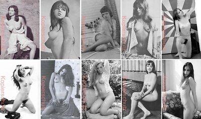 Konvolut 10 Fotos Bilder Model JUNGE FRAU HAIRY 02 Erotik Akt Vintage 60er 70er
