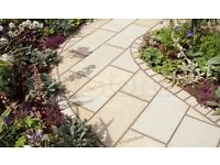 Sawn Mint Sandstone Paving 60x90 - Calibrated Indian Patio Slabs - New 600x900mm