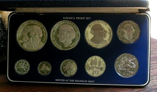 Vintage  1976 JAMAICA PROOF SET   Minted at the Franklin Mint