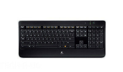 Logitech K800 Wireless Illuminated Keyboard USB Black 920-002359 Backlight for sale  Arcadia