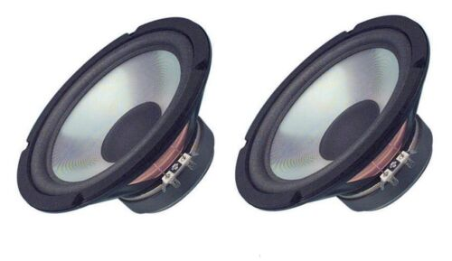 """NEW Pair (2) 8"""" inch OEM Pioneer Replacement Vintage Style Clear Woofer 100W"""