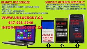 UNLOCK SAMSUNG, LG, IPHONE, HTC, BLACKBERRY, MOTOROLA, REMOTE USB UNLOCK, REMOVE GOOGLE, SAMSUNG ACCOUNT, IMEI REPAIR