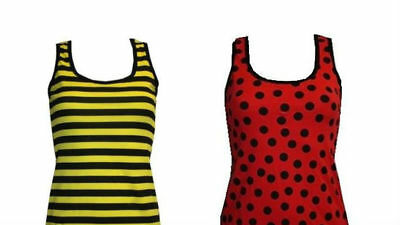 Bumble Bee / Lady Bug Vest Top Fancy Dress Halloween Costume Outfit Hen Night Bumble Bee Lady