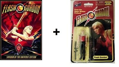 Flash Gordon Movie & Action Figure Combo Ltd Edition #'d of 4408 EE Exclusive!