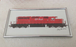 Train Print Framed by Andy Fitt