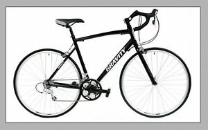 NEW Gravity Ave C UPRIGHT POSITION Comfortable Aluminum ROAD BIKE - 43cm Black