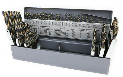 115 PC PIECE METAL COBALT FRACTIONAL DRILL INDEX BIT SET KIT FOR STEEL COBALT