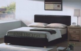 ❋❋ PRADO LEATHER BED ❋❋ MODERN LEATHER DOUBLE 4FT6 KINGSIZE 5FT FAUX LEATHER