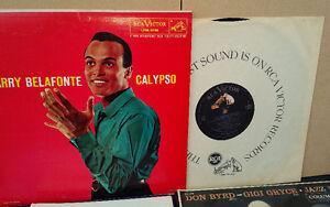 Vintage 1956 HARRY BELAFONTE Vinyl LP Record CALYPSO RCA Victor