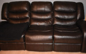 Reclining leather couch - Super Comfortable