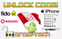 iPhone Unlock Codes! Rogers, Fido PLUS MORE!