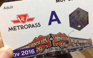 TTC Adult Metropass for November