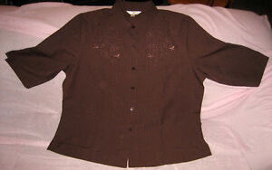 """NEW with tags """"Tradition"""" Woman's 22W brown blouse"""