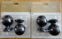 Set of four decorative door knobs (wood ball finials) Brand new!