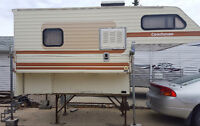 Older truck camper for sale as is!!! Reasonable OFFERS