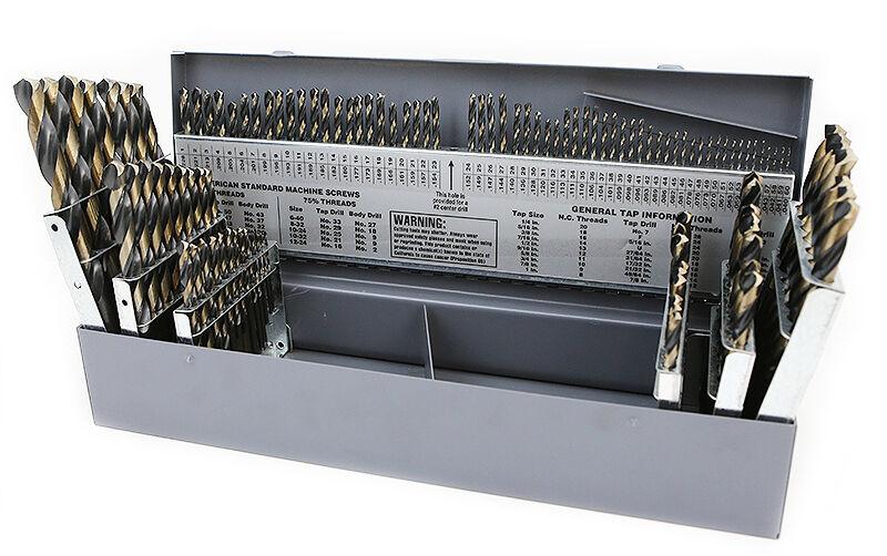 Cobalt Drill Bit Set >> 115 PC PIECE METAL COBALT FRACTIONAL DRILL INDEX BIT SET KIT FOR STEEL COBALT | eBay
